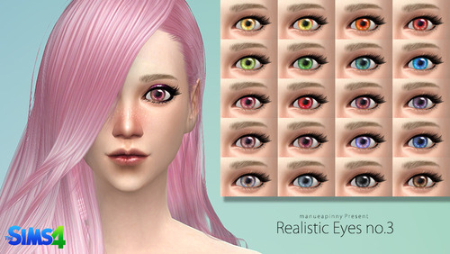 Realistic eyes no.3 by Manueapinny