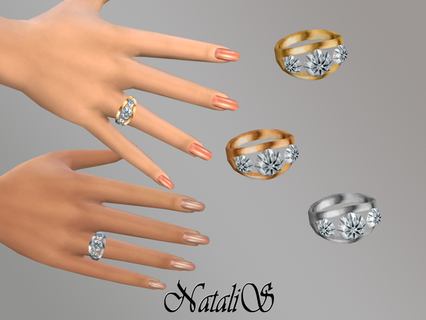 NataliS_TS4 Ring ( right) with diamonds YA-FE