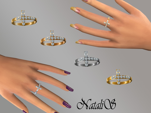 NataliS_Cross with crystals ring FT-FA