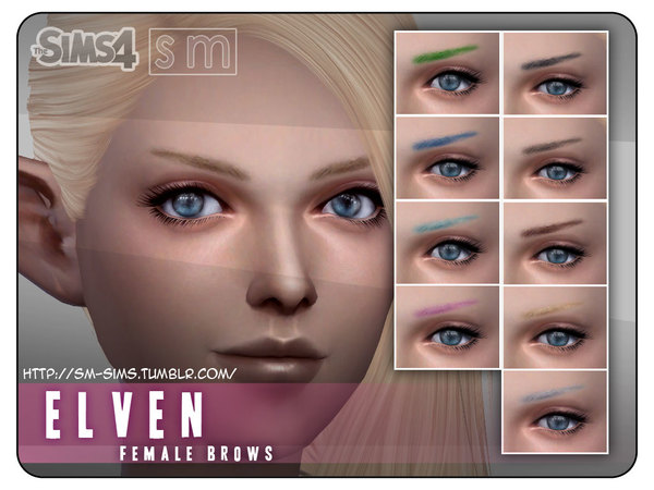 [ Elven ] - Female Brows by Screaming Mustard