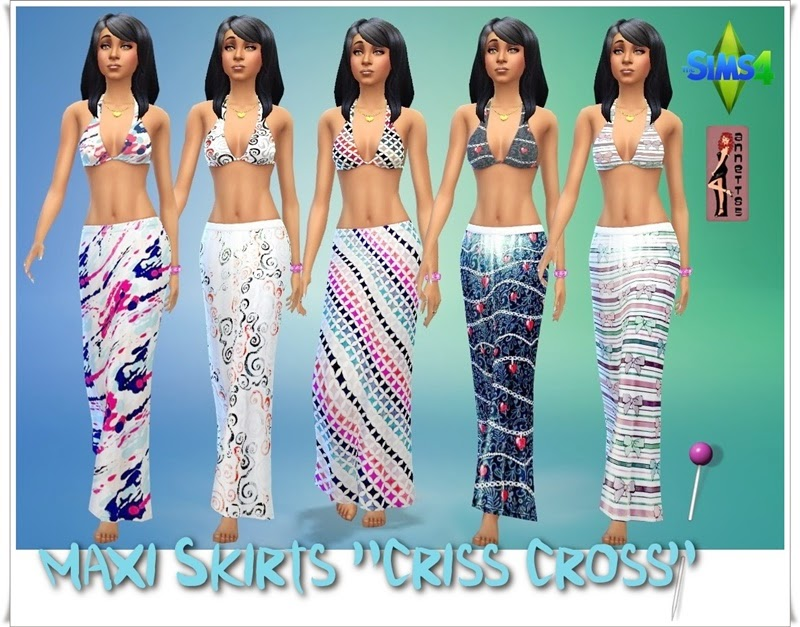 Maxi Skirts Criss Cross by Annett85