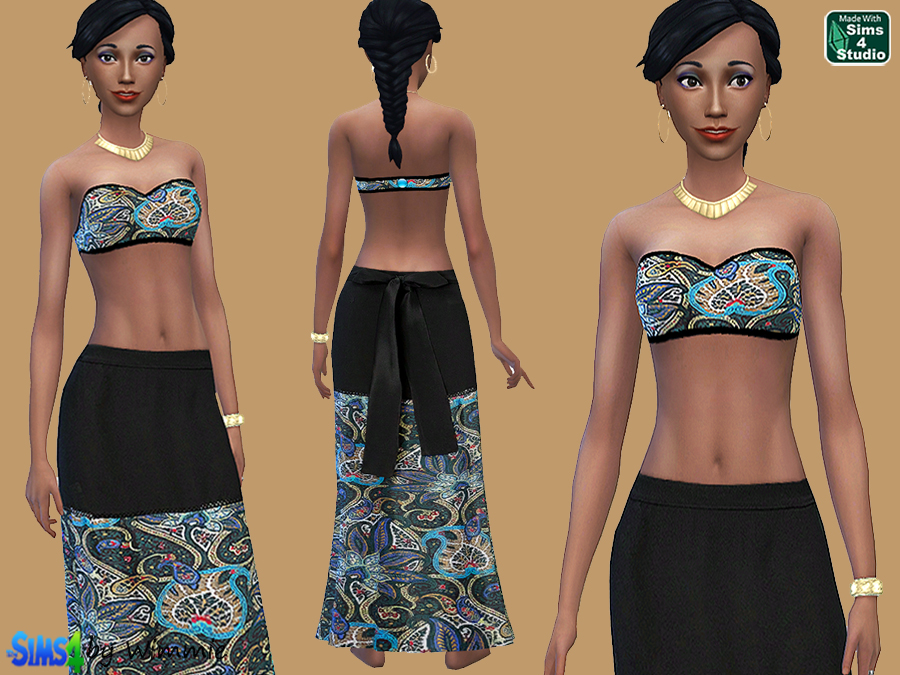 Maxi Skirt and Bandeau Top by Wimmie