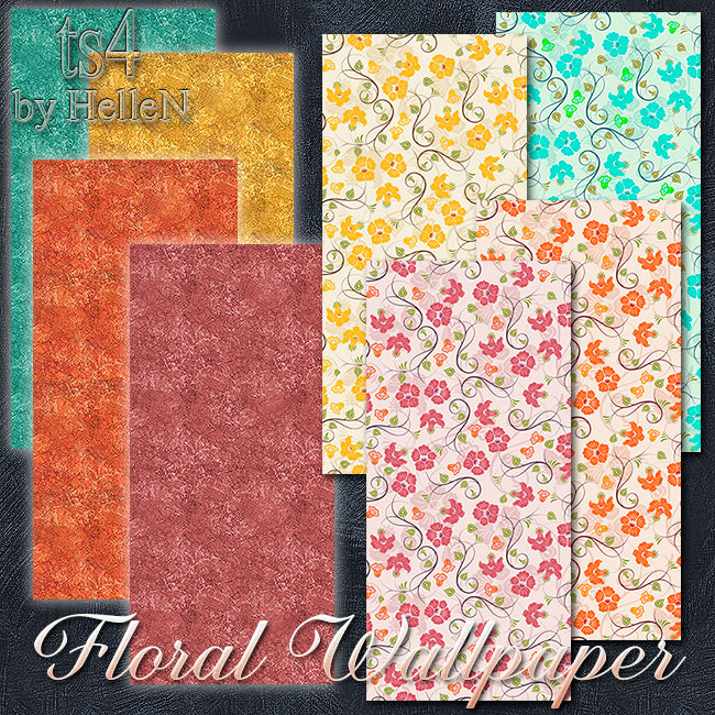 Floral wallpaper by HelleN