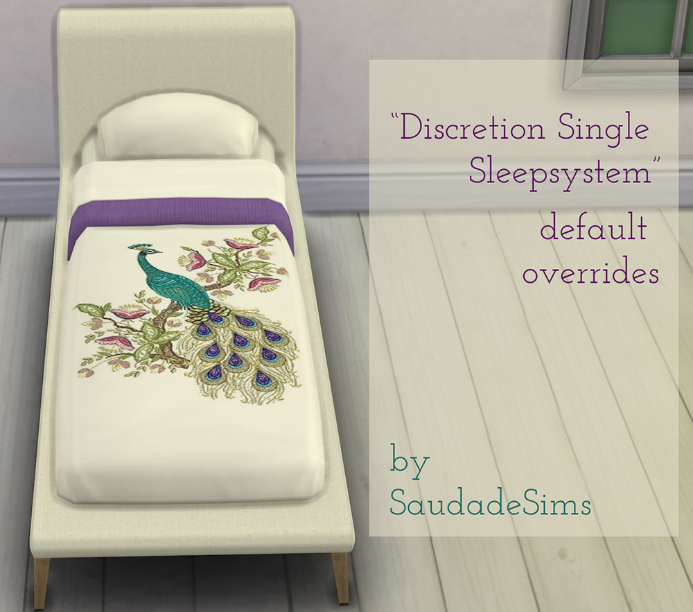 Discretion single bedding at Saudade Sims