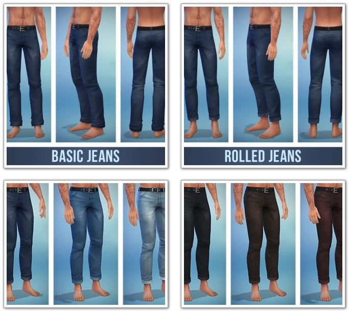 Basic and Rolled Jeans at Simsontherope
