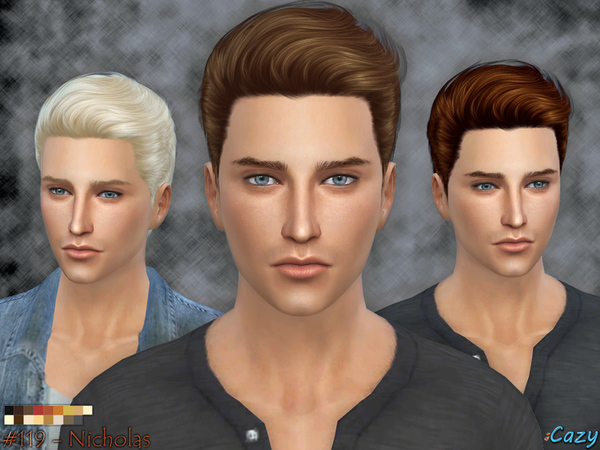Nicholas Hairstyle - Sims 4 by Cazy