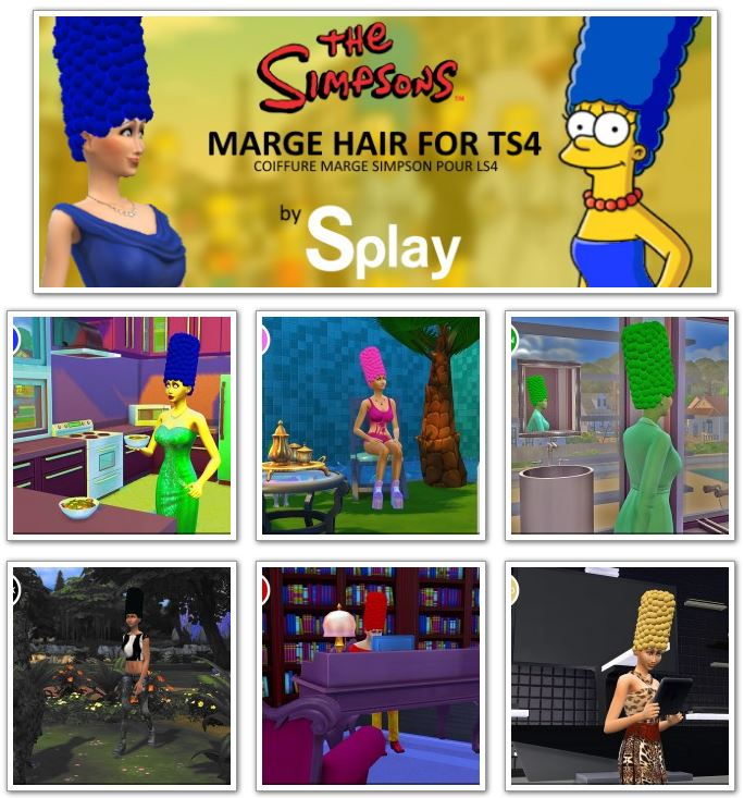 Marge Simpson hair at Splay