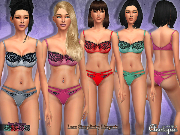 Set14- Simplicity Lace Lingerie by Cleotopia