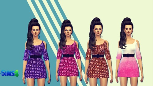 Gradient dress at Sims 4 Ego