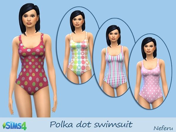 Polka dot swimsuit by Neferu
