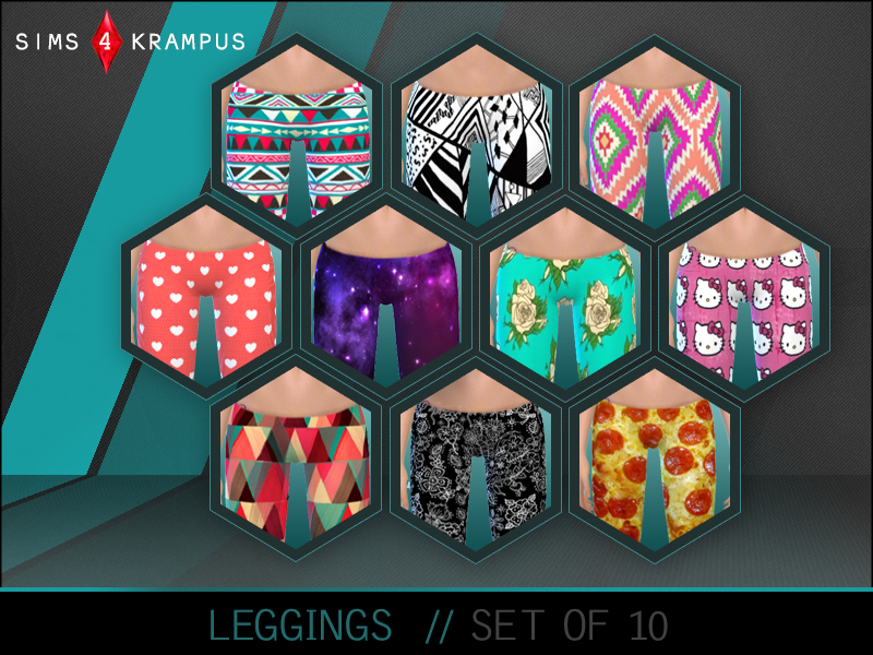 SIms4Krampus Set of 10 Leggings