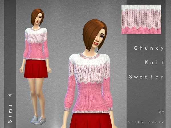 Chunky Knit Sweater by hrekkjavaka