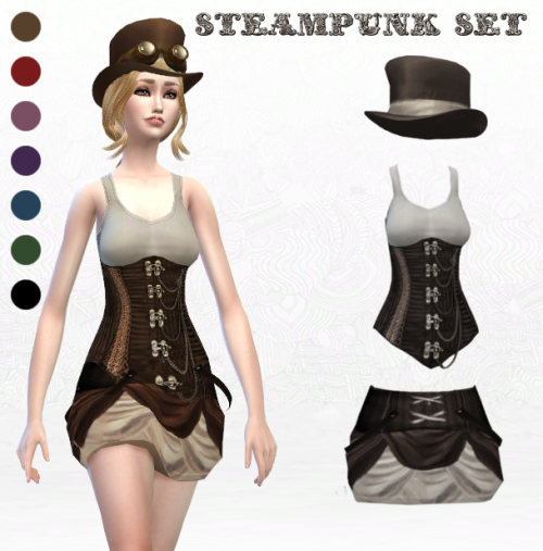 Steampunk Set by LadyHayny