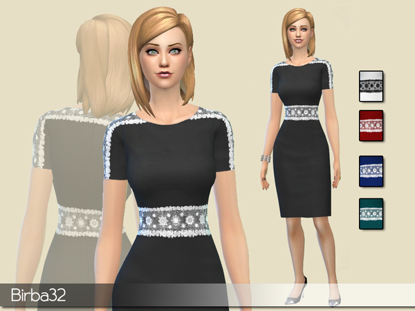 Belted dress lace by Birba32
