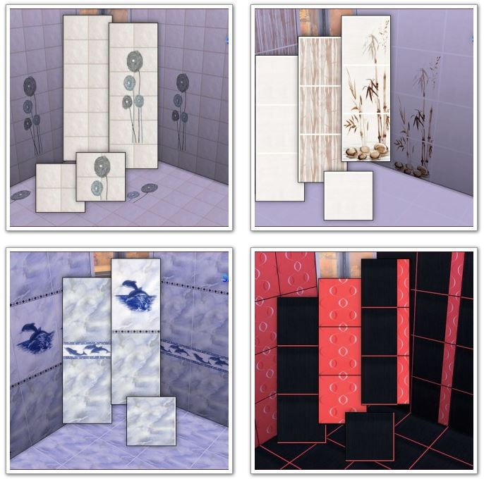 4 bathroom tile sets by Mabra