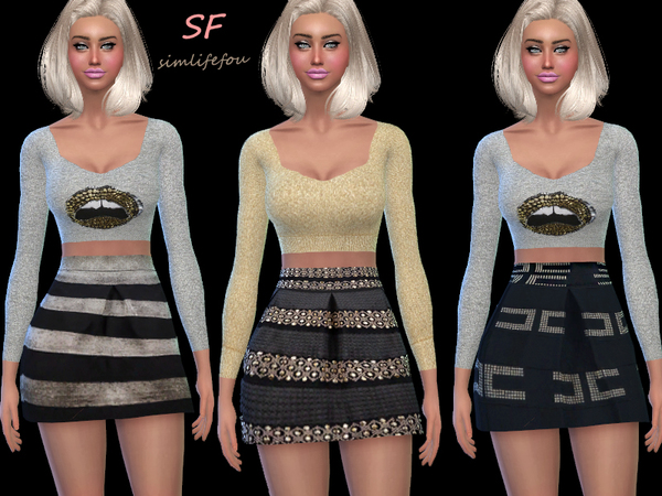 High Waist Mini Skirt by foufouchouchou
