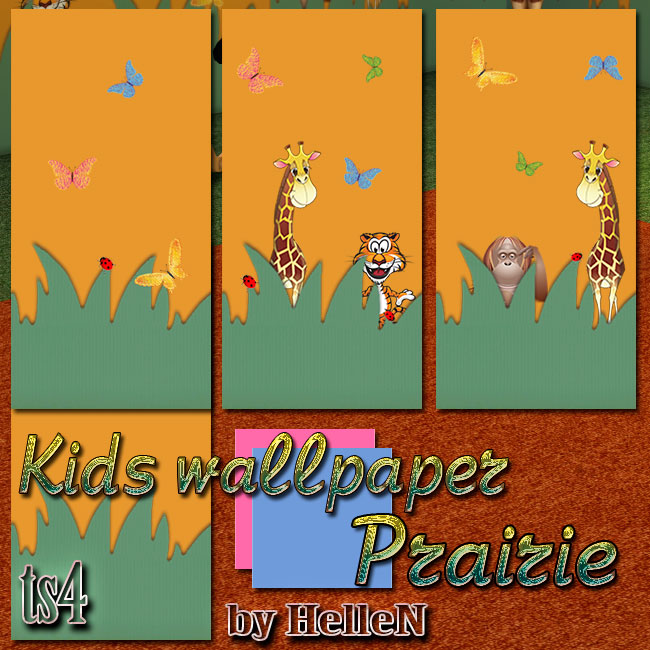 Kids wallpaper Prairie by HelleN