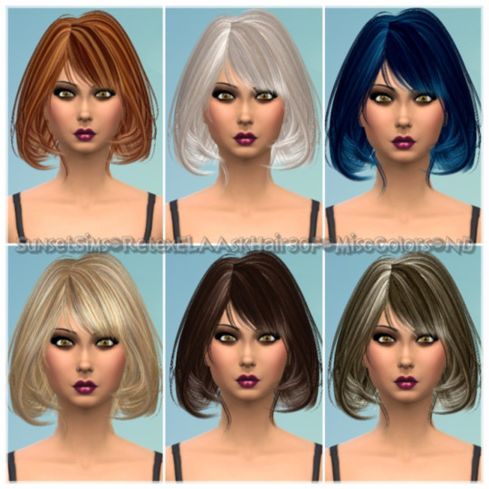 Retex-ELAAskHair30F-MiscColors-ND by SunsetSims