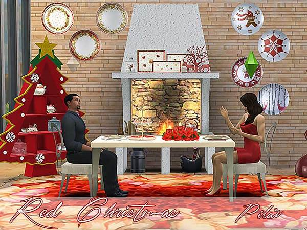 Dining Red Christmas by Pilar