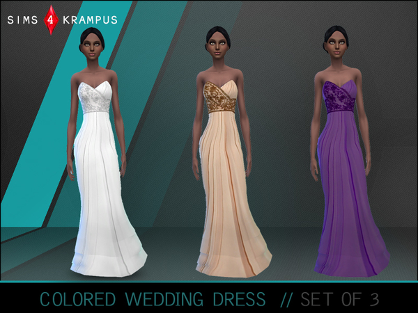 Colored Wedding Dresses by SIms4Krampus