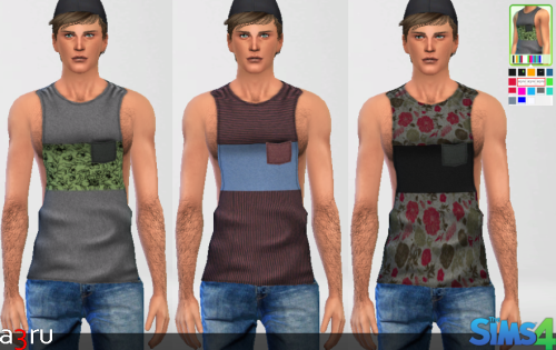 LumiaLover Sims Muscle Shirt Re-colours by A3RU
