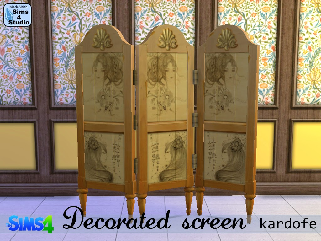 DECORATED SCREEN Recolor at Kardofe