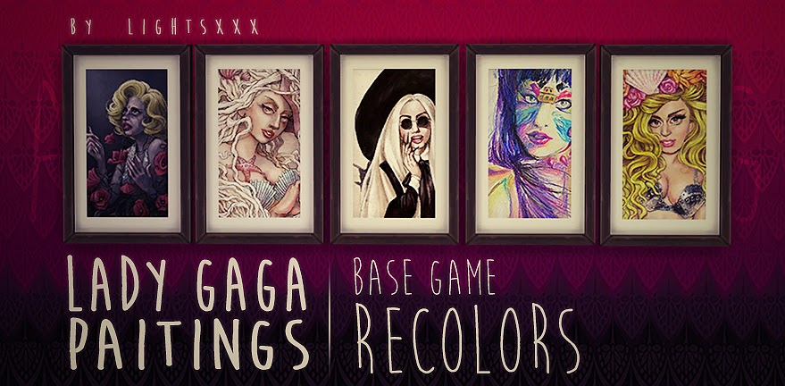 Lady Gaga Paintings by Lightsxxx