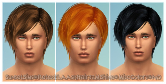 Retex-ELAAskHair32Shine-MiscColors-ND by SunsetSims