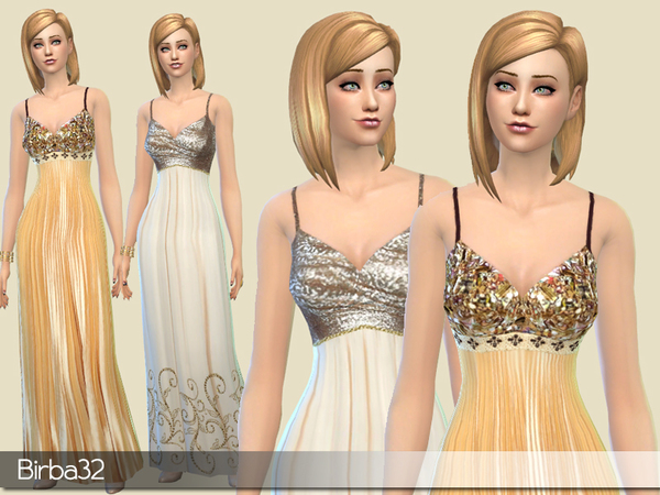 Golden dresses by Birba32