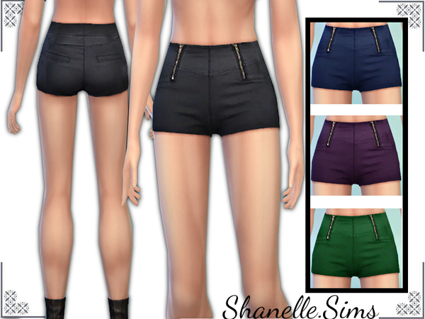 High waist shorts by shanelle.sims