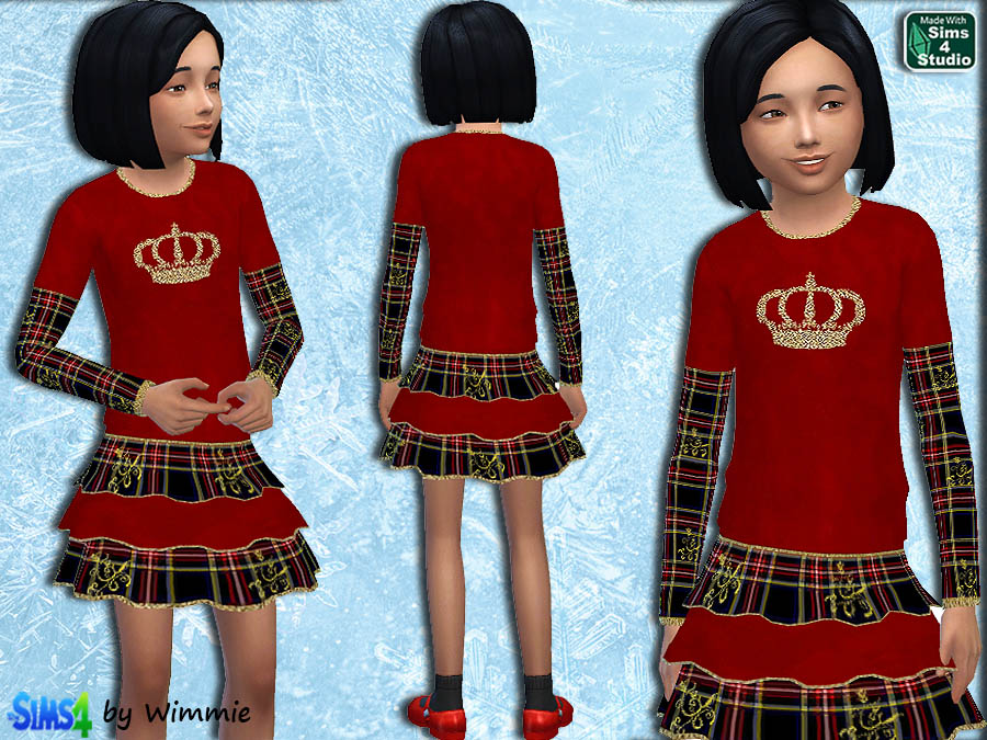 Red Velvet and Tartan Set at Just For Your Sims