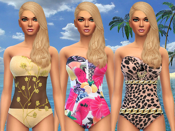 Tropical Dream Swimsuits by Pinkzombiecupcakes