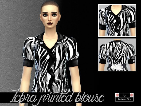 Zebra printed blouse by IzzieMcFire