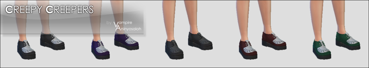 Creepy Creepers -5 colors- by Vampire_aninyosaloh