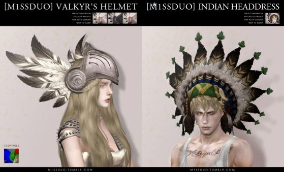 Valkyr Helmet and Indian Headdress by M1ssduo