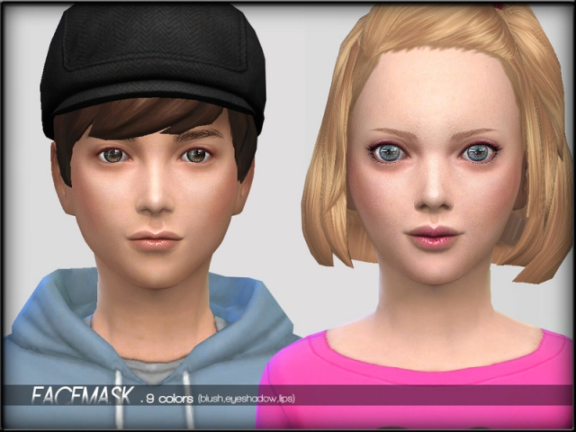 FaceMaskSet1 - Child by ShojoAngel