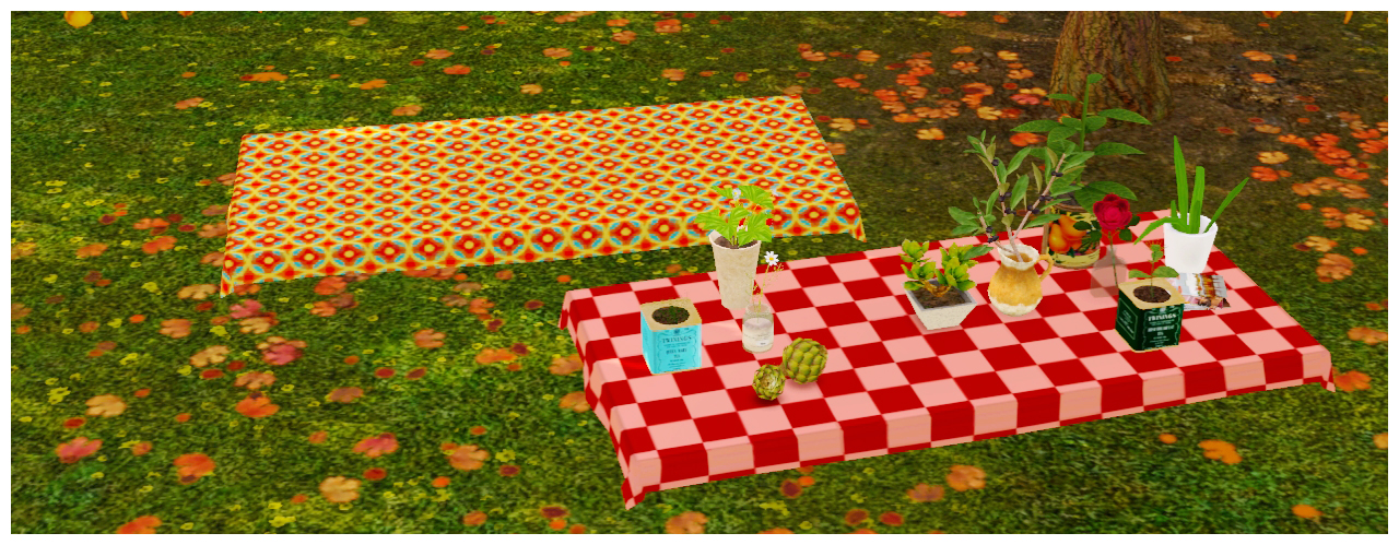 Ice Cream Dining Table & 2x1 Table Cloth by Everlasting Garden
