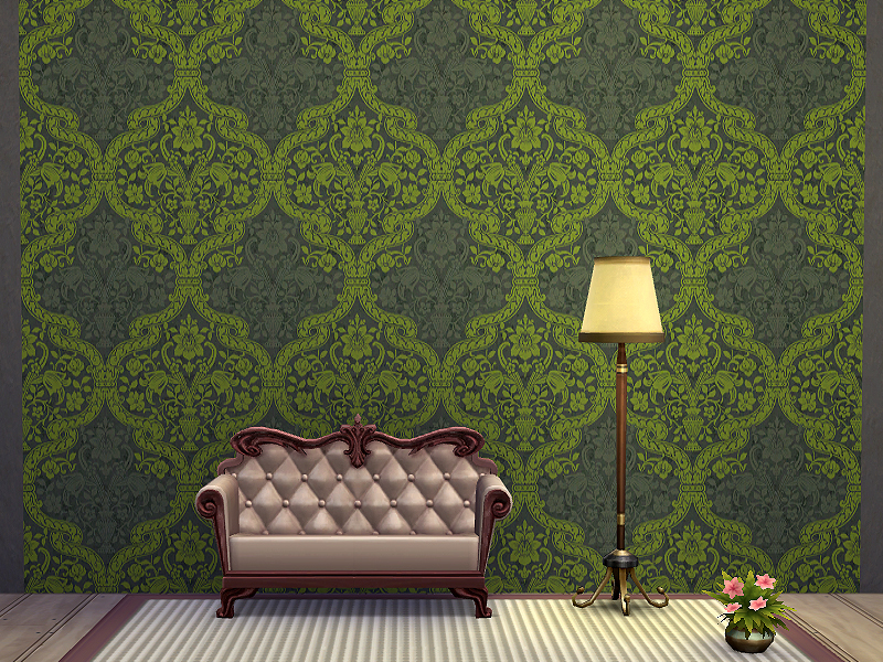 Rirann Colored Damask Wallpaper