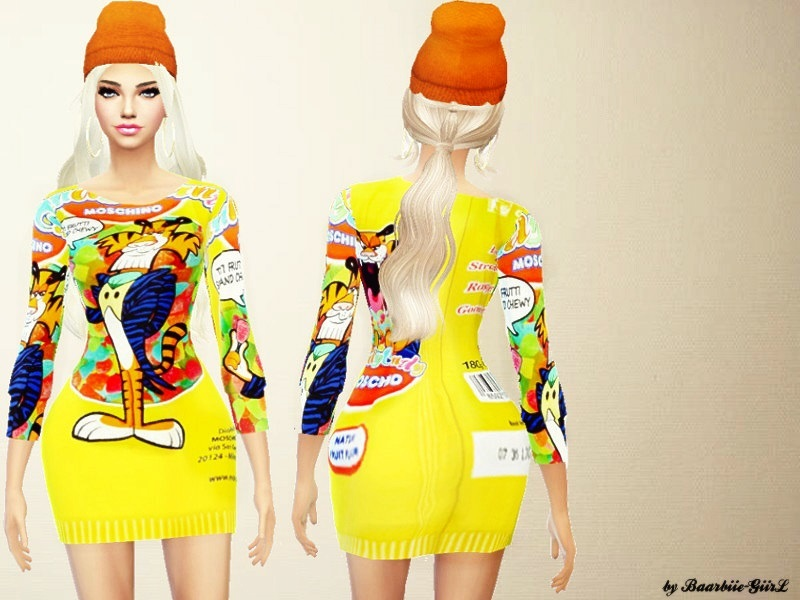 Moschino Tutti Frutti Dress/Sweater  BY Baarbiie-GiirL
