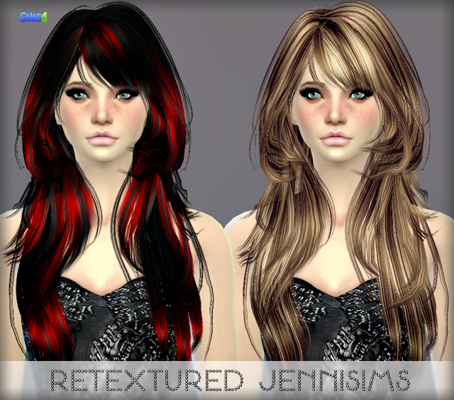 Elasims Asked Hair29F Retexture by JenniSims