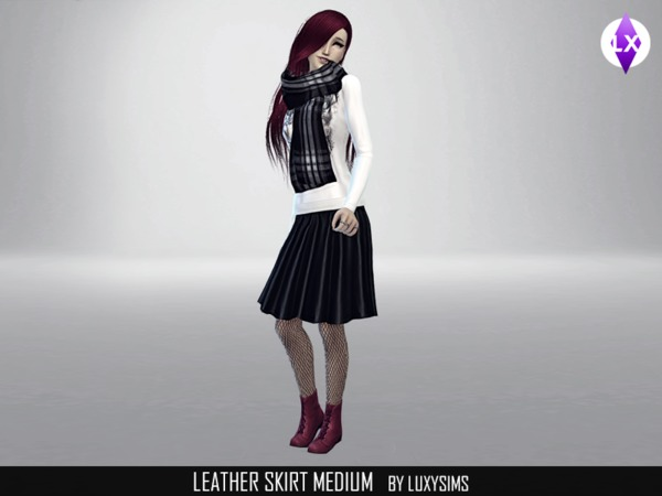 Leather skirt (medium) by LuxySims3
