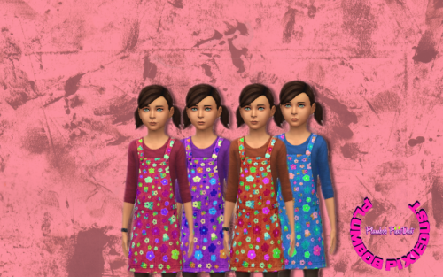 Floral Jumper/Overalls for Girls by PlumbobPixiedust