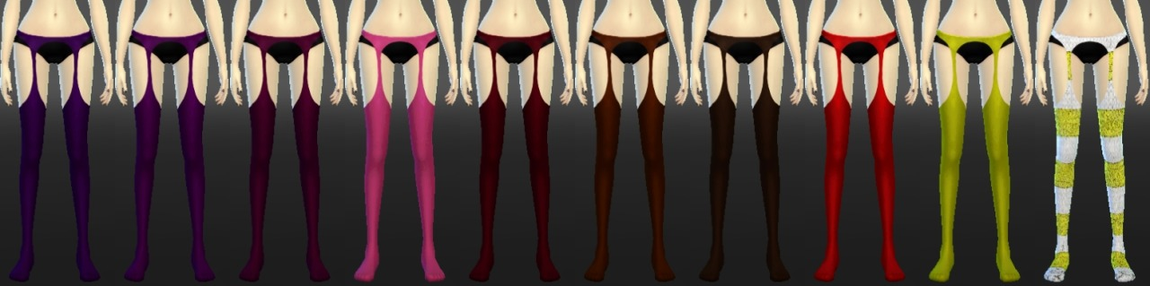 Suspender Thigh High Stockings by DecayClownSims