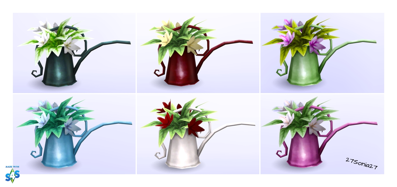Lily in Watering Can Recolors by Sonia