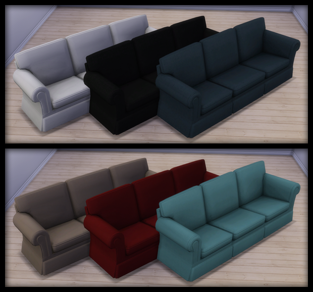 Hipster Hugger Sofa & Simplicit Ease Chair Recolors by 13Pumpkin