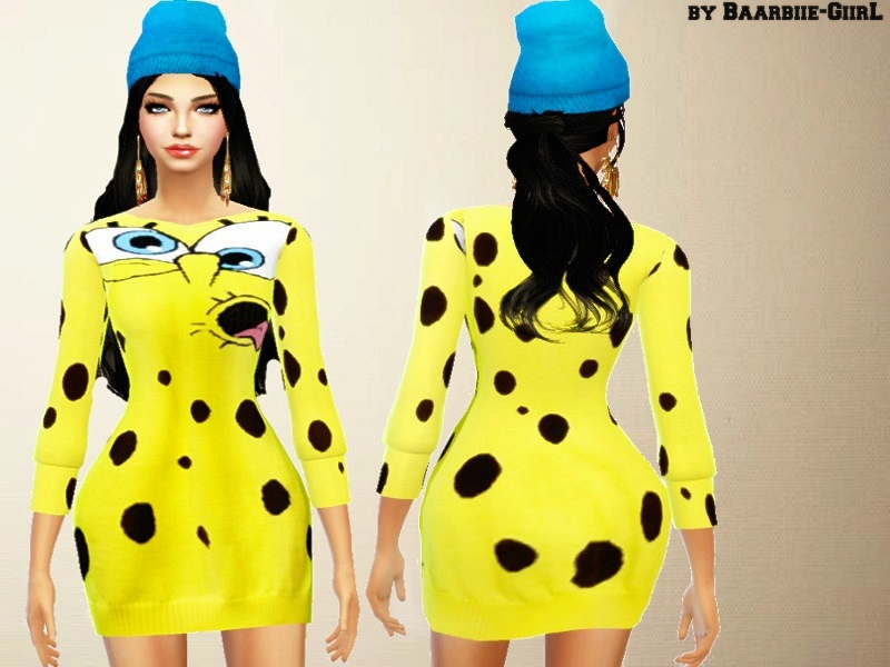 Moschino Spongebob Dress/Sweater BY Baarbiie-GiirL