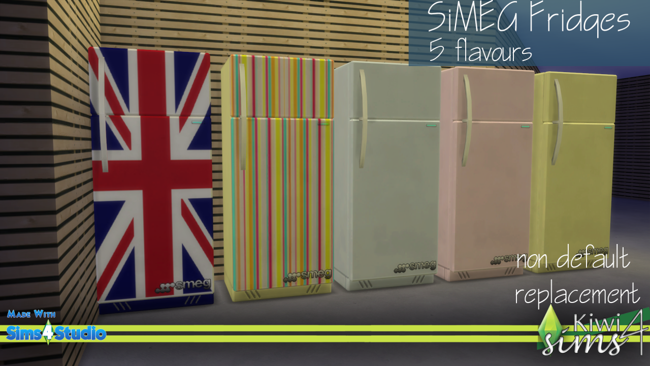 SiMEG Fridges at Kiwi Sims 4