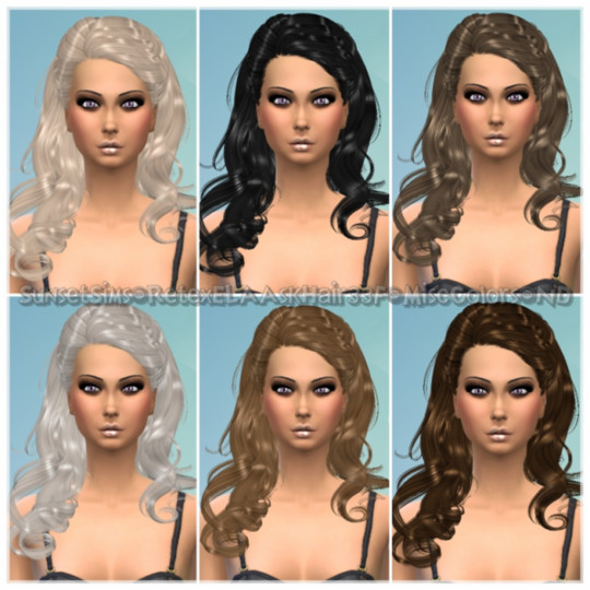 Retex-ELAAskHair33F-MiscColors-ND by SunsetSims