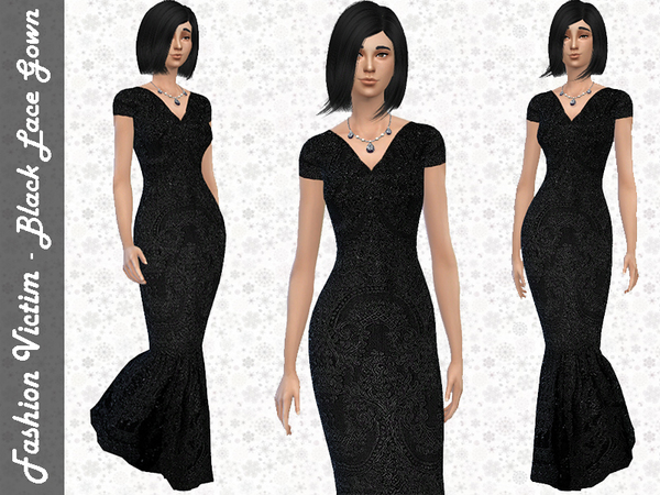 Black Lace Gown by Fashion Victim