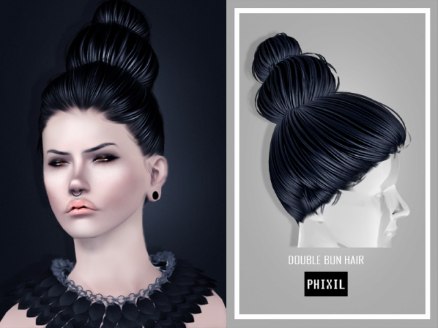 Double Bun Hair by Phixil